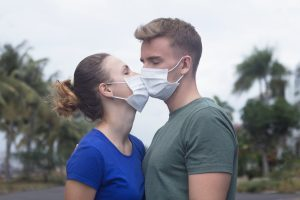 couples unable to kiss coronavirus