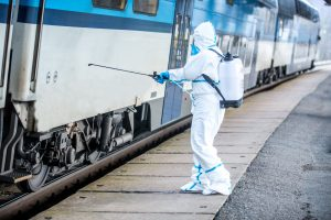 coronavirus trainstation cleaning